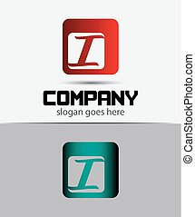 Corporate Logo i Letter company