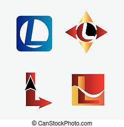 Corporate Logo L Letter company vec