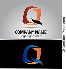 Corporate Logo Q Letter company