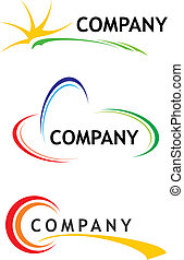 Corporate logo templates - Three logo design templates for...