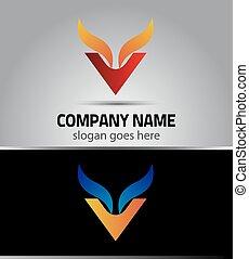Corporate Logo V Letter company
