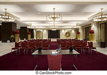 Corporate meeting room.