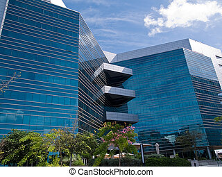 Corporate modern office building