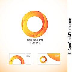 Corporate orange business circle logo icon
