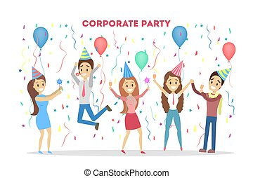 Corporate party people.