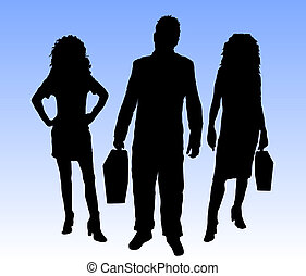 Corporate power - Business people in various poses