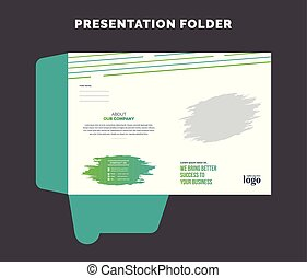 Corporate Presentation Folder Template, Business Cover Design