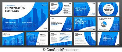 Corporate presentation templates set - Business presentation...