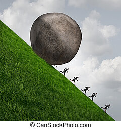 Corporate Pressure - Corporate pressure business concept as...
