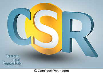 Corporate Social Responsibility - acronym 3d render ...