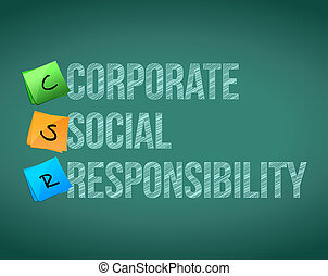 Corporate social responsibility board posts illustration ...