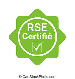 Corporate social responsibility certified badge called RSE...