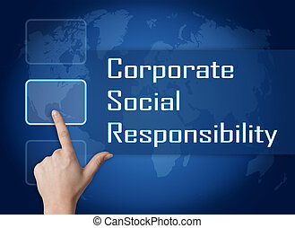 Corporate Social Responsibility concept with interface and ...