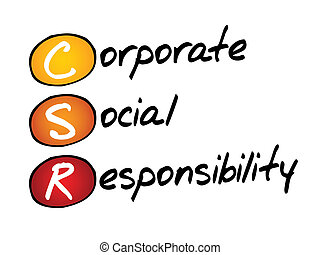 Corporate Social Responsibility (CSR), business concept ...
