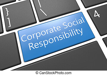 Corporate Social Responsibility - keyboard 3d render ...