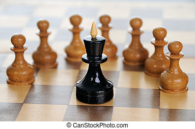 Corporate strategy - Lonely king against pawns. Low depth of...