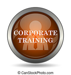 Corporate training icon. Internet button on white...