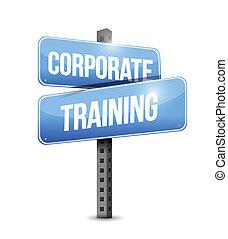 corporate training road sign illustration