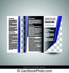 red cover design and inside template for magazine ads presentation