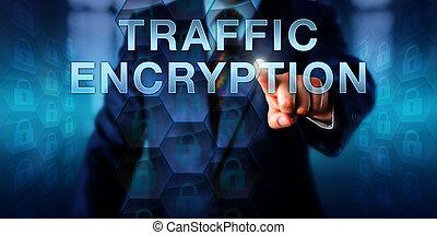 Corporate User Pushing TRAFFIC ENCRYPTION