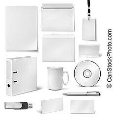 Corporate visual identity design templates - Realistic...