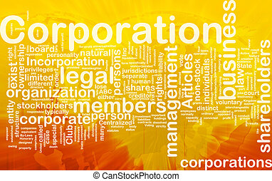 Background concept wordcloud illustration of corporation international