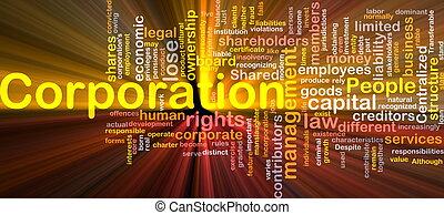 Corporation background concept - Background concept...