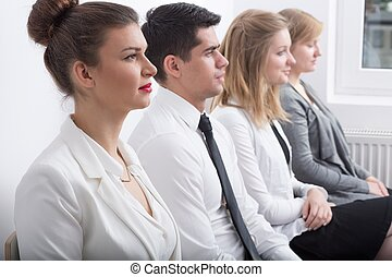 Corporation interview candidates - Stressed people are...
