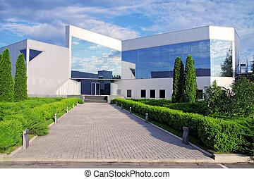 corporativo, edificio, en, nature.