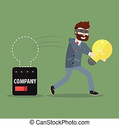 corporativo, idea, rubare