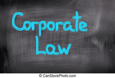 corporativo, legge, concetto