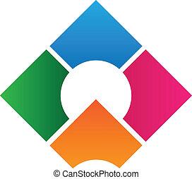 corporativo, logotipo, diseño, plantilla