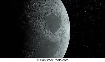 corps, éléments, meublé, ceci, image, orbites, lune, planète...