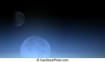 corps céleste, moon.