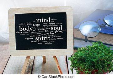 corps, concept, motivation, esprit, âme, citations, mots, esprit