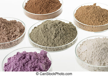 corps, cosmétique, palette, clays, traitement, spa