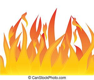 corps, de, flamme