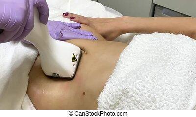 corps, femme, processus, clinique, care., lipomassage.