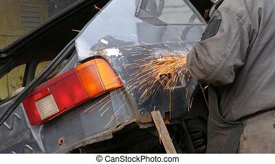 corps, fonctionnement, auto, mécanicien garage, voiture