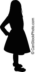 corps, girl, silhouette