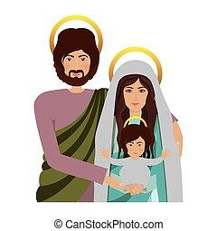 corps, image, sacré, famille, moitié