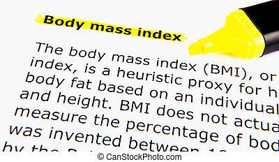 corps, indice, masse