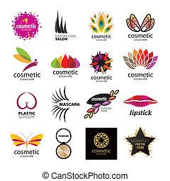 corps, logos, collection, vecteur, produits de beauté, soin