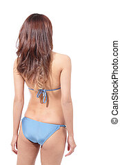 corps, sexy, femme, maillot de bain