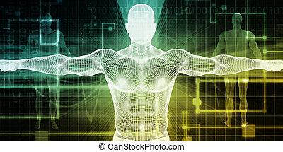 corps, technologie médicale