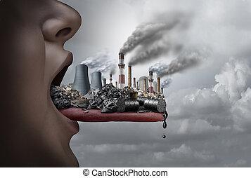 corps, toxique, intérieur, humain, pollution
