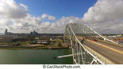 Corpus Christi Texas Gulf of Mexico Turning Basin Bridge -...