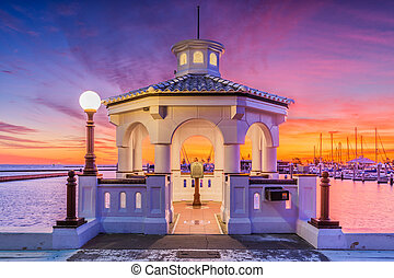 Corpus Christi Texas Seawall - Corpus Christi, Texas, USA on...