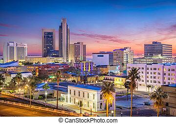 Corpus Christi, Texas, USA Skyline at dusk.