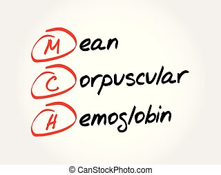 corpuscular, mch, emoglobina, -, acronimo, media